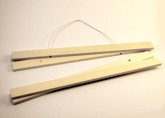Bilderleiste Holz klemmschiene magnetisch bilderleiste a3 ahorn aufhängung für poster