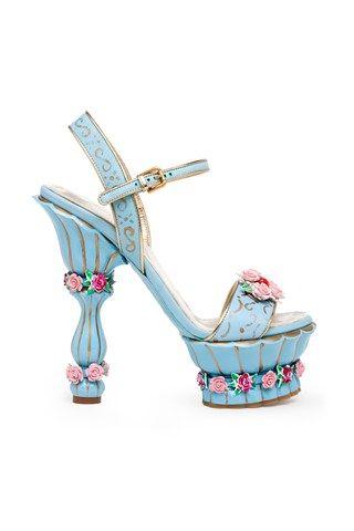 3988823b0c6 Modern fairytale   karen cox   Cinderella. High Heel Blue Fairy Shoes by  Dolce and Gabbana