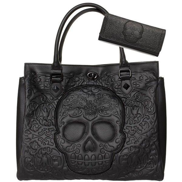 Punk Skull Womens Fashion Large Tote Shoulder Bag Ladies Handbag