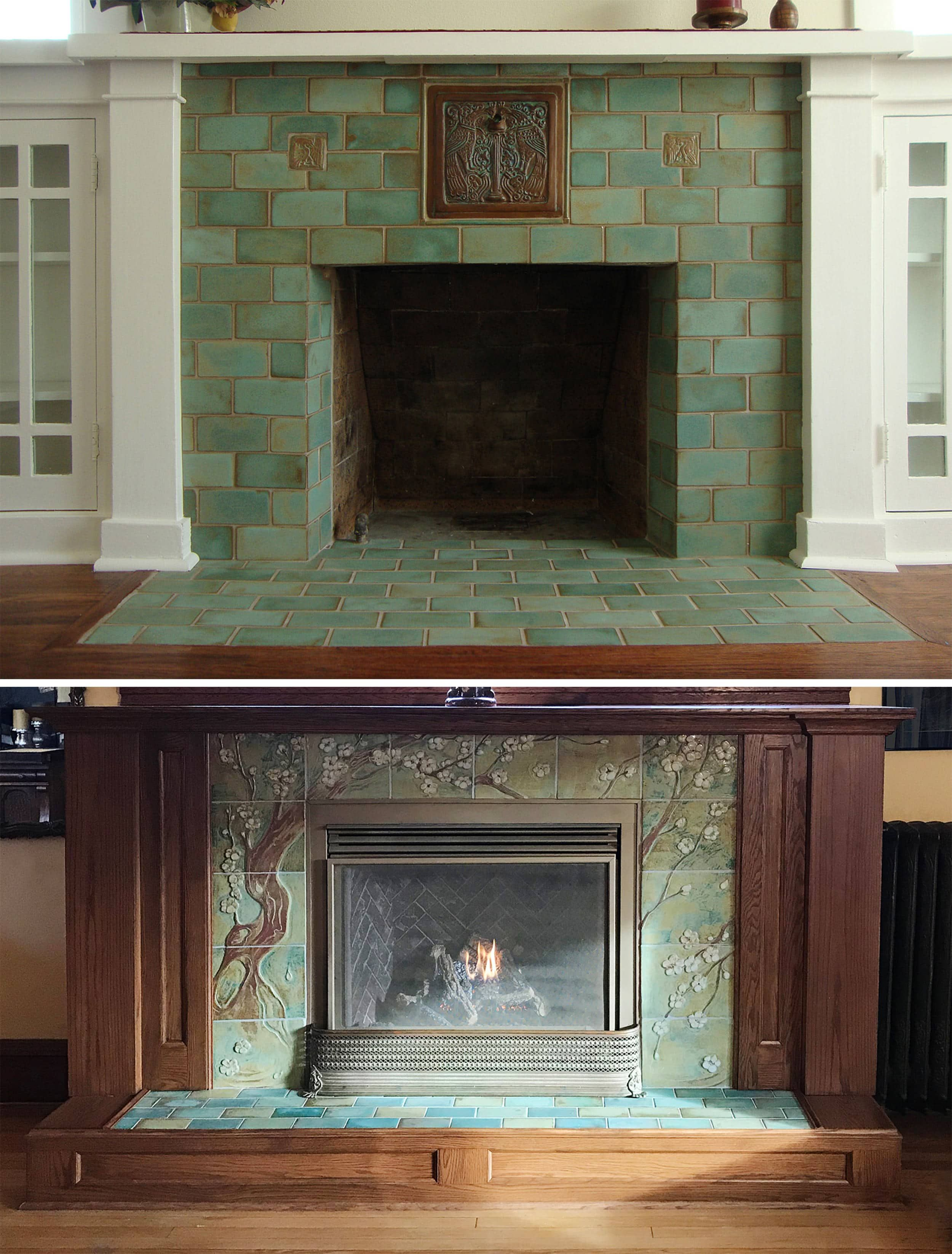 Do You Have To Pick A Classic Tile When Renovating An Older Home Hearth Tiles Craftsman Bungalows Fireplace Tile