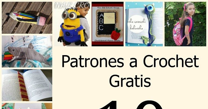 crochet free pattern back to school patrones gratis ganchillo vuelta ...