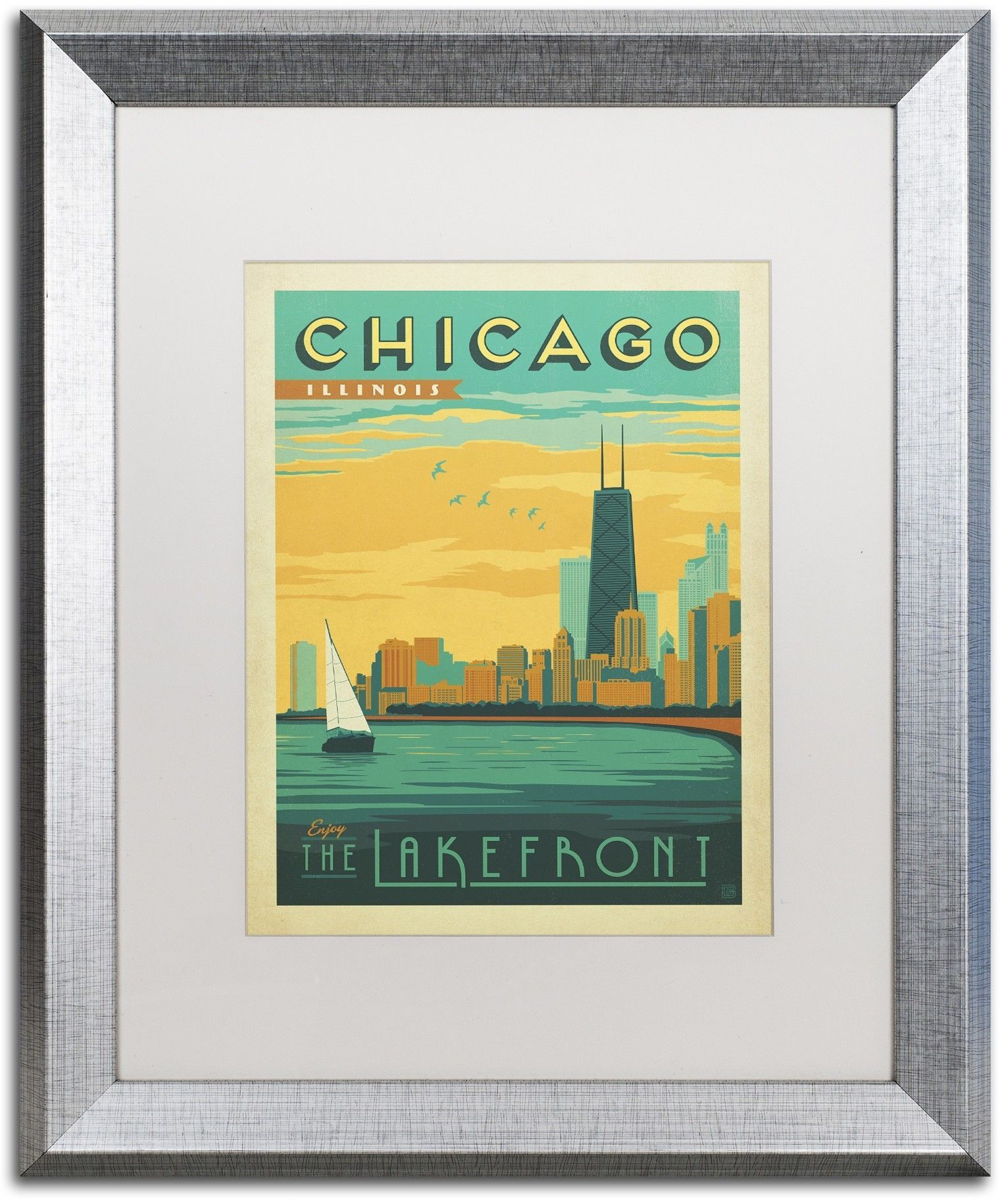 Chicago II by Anderson Design Group Framed Graphic Art | Chicago ii ...
