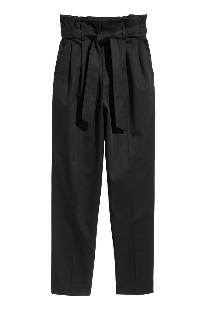 7ab10e91c3 Pantalón abullonado - Negro - MUJER