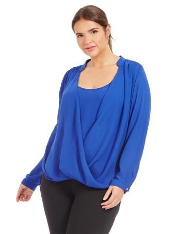 Plus Size CITY CHIC Sweet Wrap Front Top