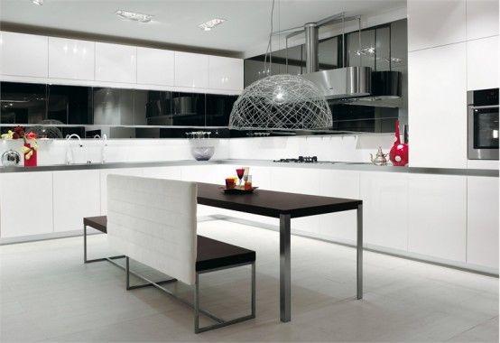 Coole Schwarze und Weiße Küche Designs – Longline von Salvarani ...