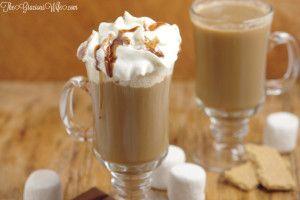 Homemade S'mores Coffee Creamer #frenchvanillacreamerrecipe