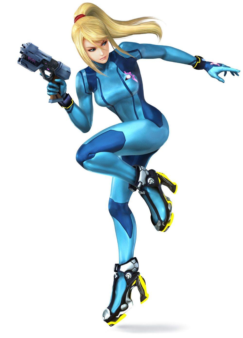 Zero Suit Samus Super Smash Bros For 3ds And Wii U Super Smash Bros Personagem Em 3d Metroid
