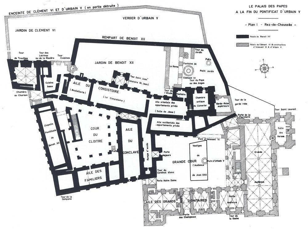 Ground Floor Plan Palais Des Papes Avignon France The Papal Residence Between Xiv And Xv Centuries