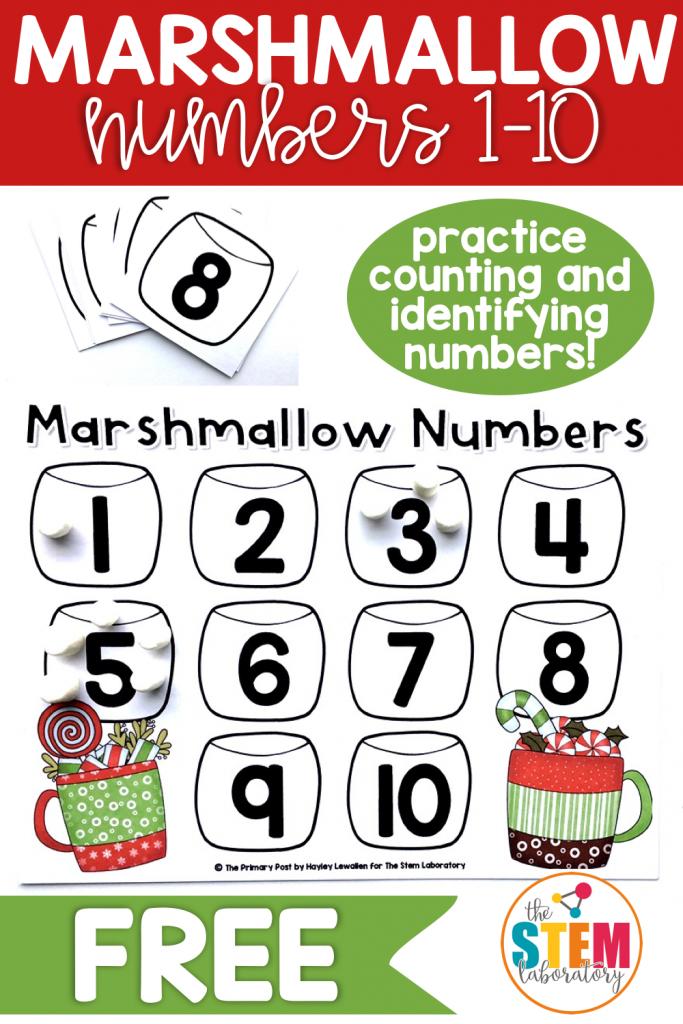 Marshmallow Numbers 1 10 The Stem Laboratory Math Centers Kindergarten Winter Math Centers Christmas Math Centers