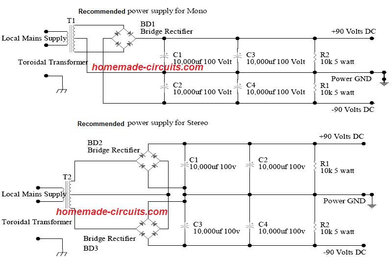 1000 Watt To 2000 Watt Power Amplifier Circuit Homemade Circuit Projects Circuit Projects Power Amplifiers Circuit Diagram