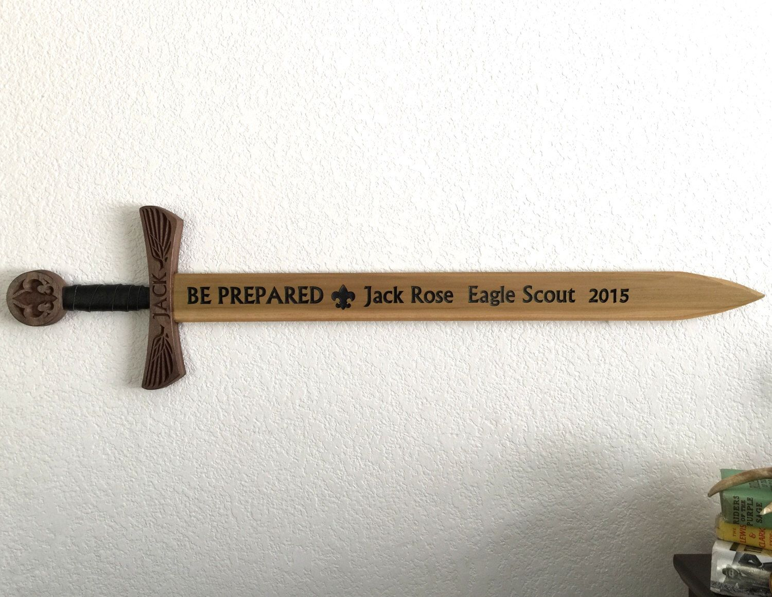 Workbooks eagle scout service project workbook : Scout's Honor Presentation Sword - Eagle Edition - Custom Engraved ...