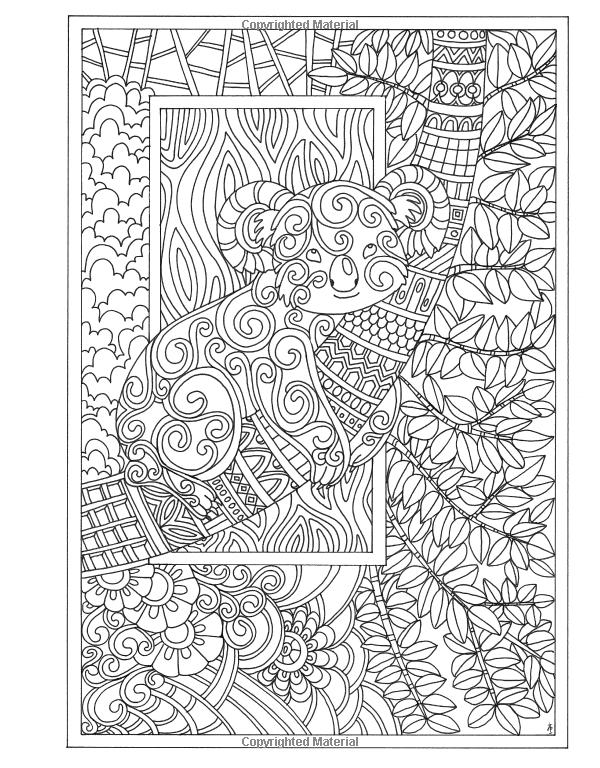 Amazon Angela Porters Zen Doodle Animal Tangles New York Times Bestselling Artists Adult Coloring Books 9781944686031 Porter
