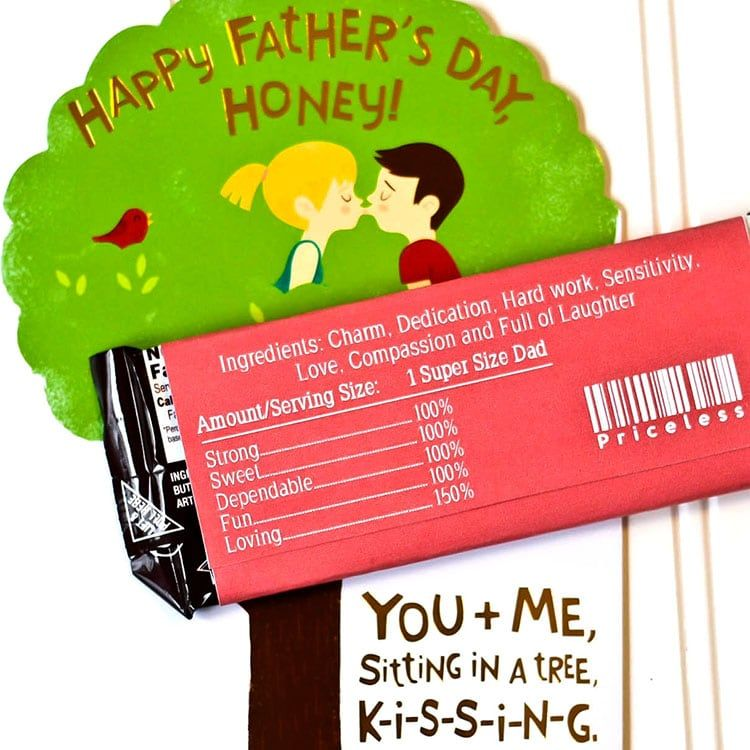 FREE Father's Day Candy Bar Wrappers