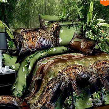 3D Animal Duvet Cover Tiger Bedding Sets Double Bed Linen Bed Sheet Sets King Size Bedspread