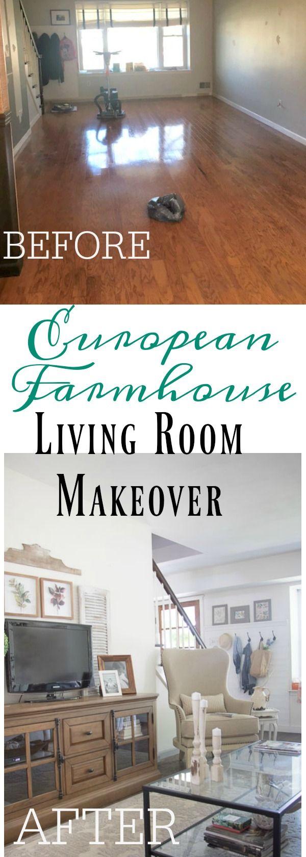 Farmhouse Furniture: European Farmhouse Living Room Makeover
