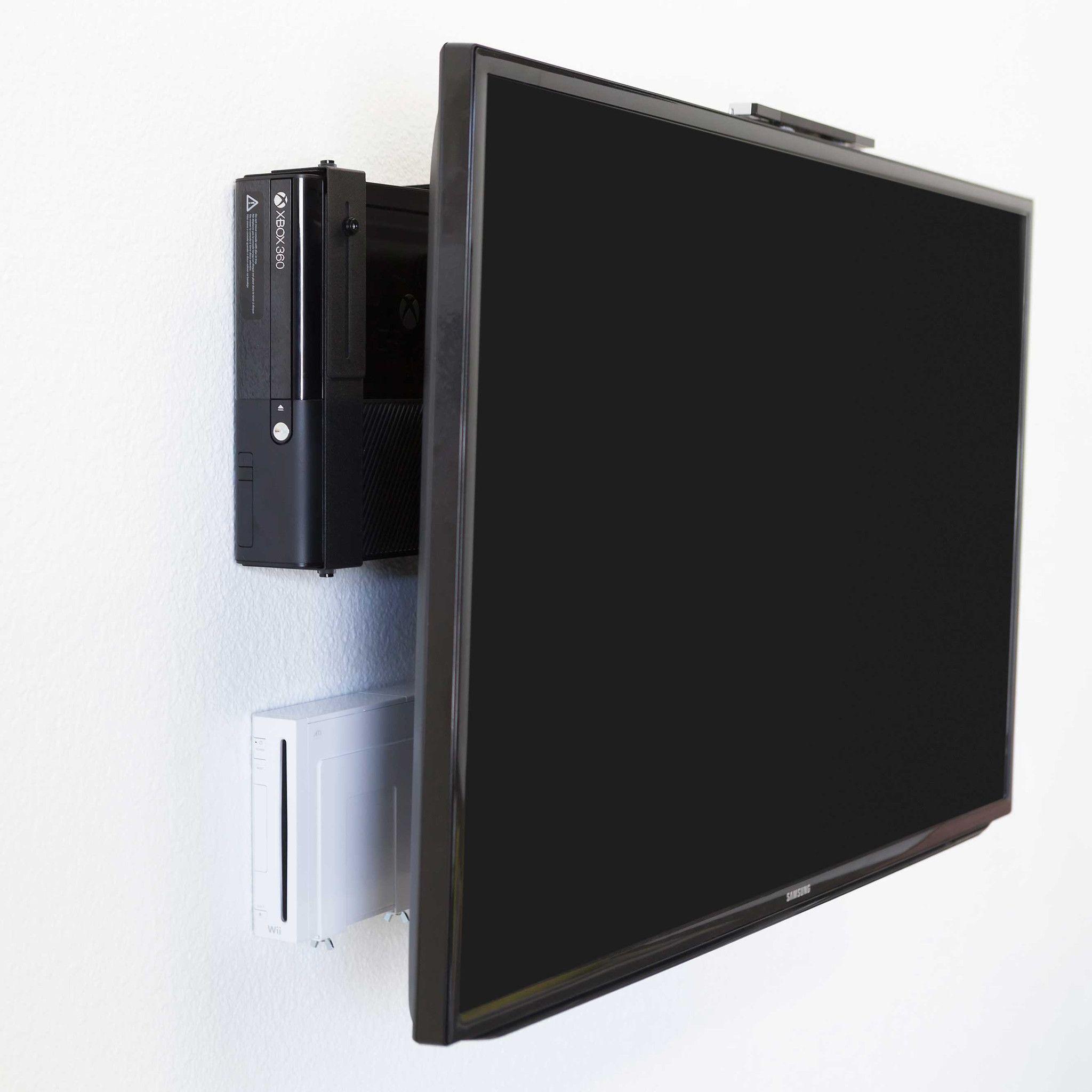 Wii Wall Mount Storage Bracket Nintendo Wii U Black White Zocker Zimmer Wohnung Zimmer