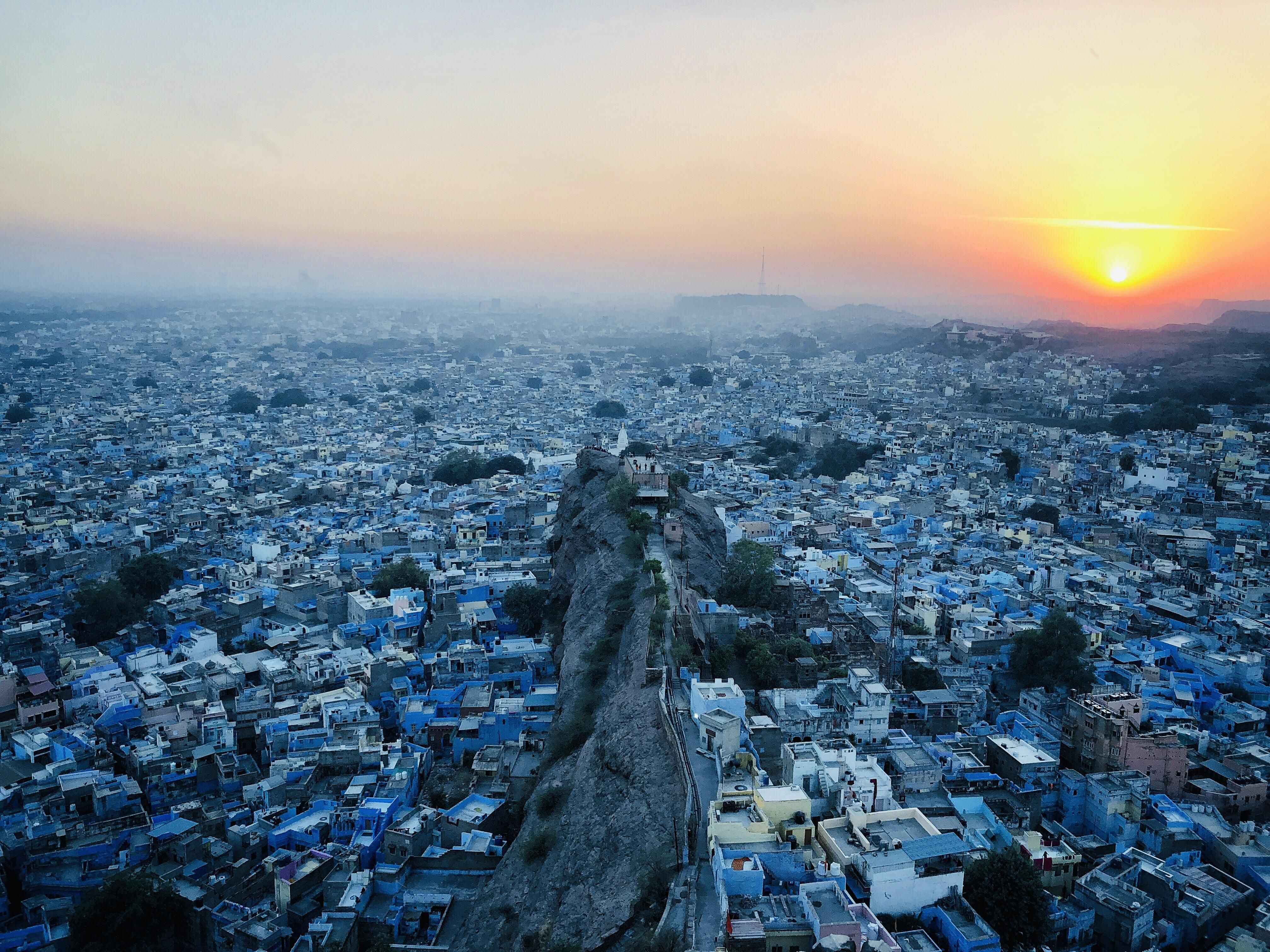 Theres a reason why they call it the Blue city. Jodhpur