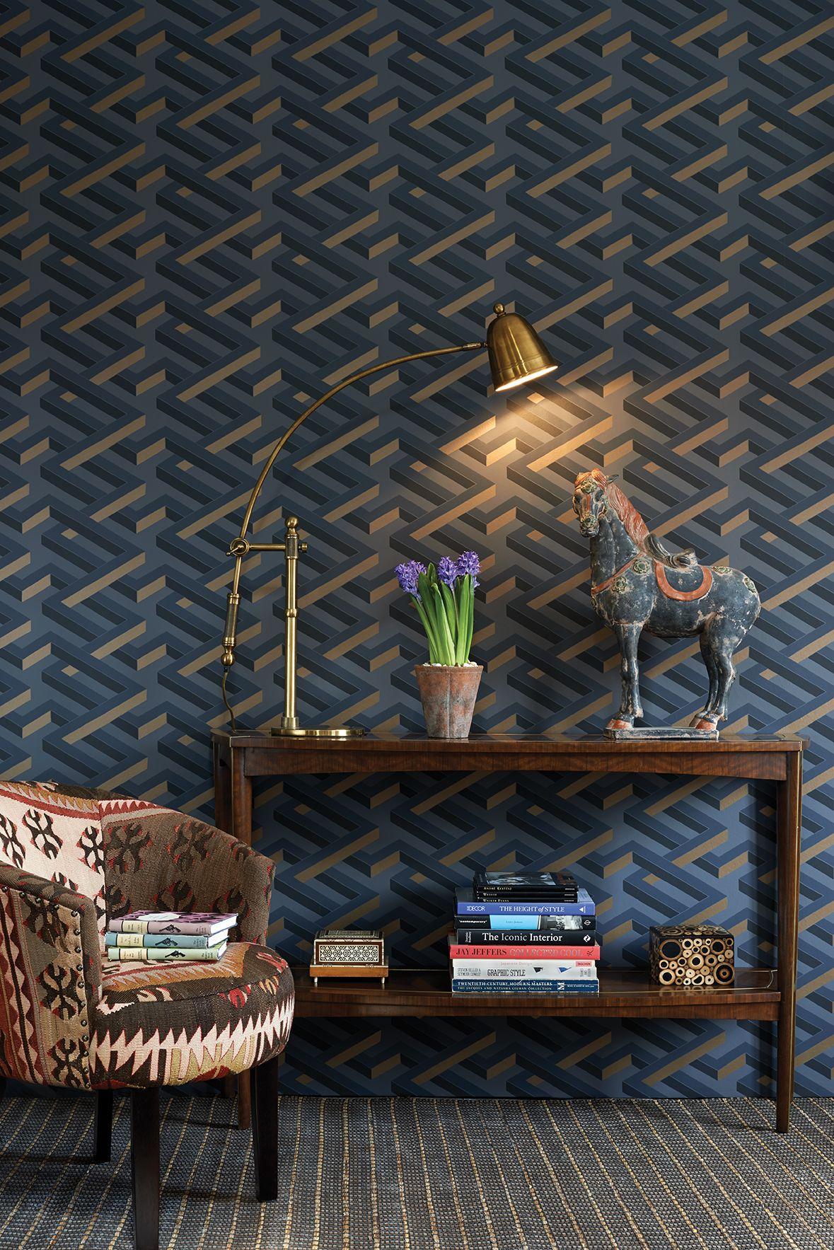 Papel Pintado Murales Luxor Geometric Wallpaper By Cole And Son Cole And Son