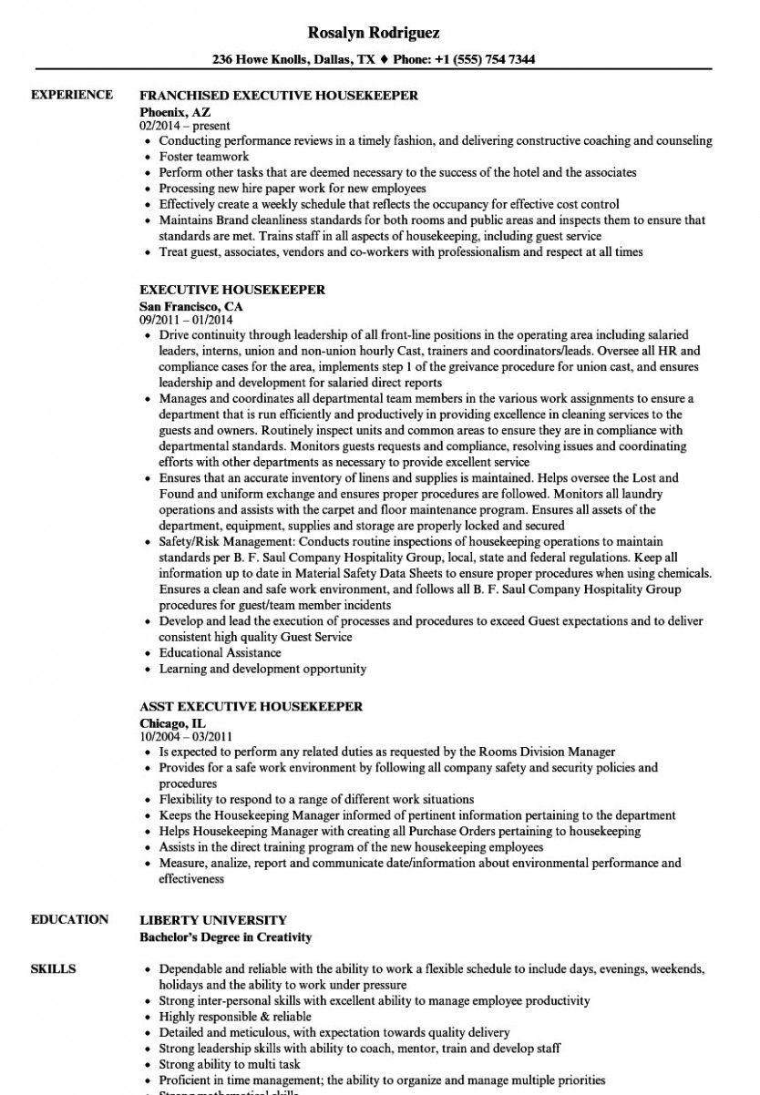13 Housekeeping Resume Word Format di 2020