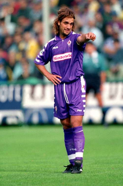 Just Legendary Gabriel Omar Batistuta Batigol In One Of The