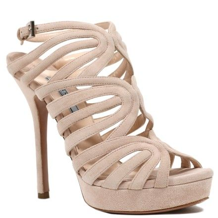 5059a3ac889 Prada Cipria Sandals Platform Calzature Donna Heel Crystal Logo Formal  Shoes Size EU 37.5 (Approx