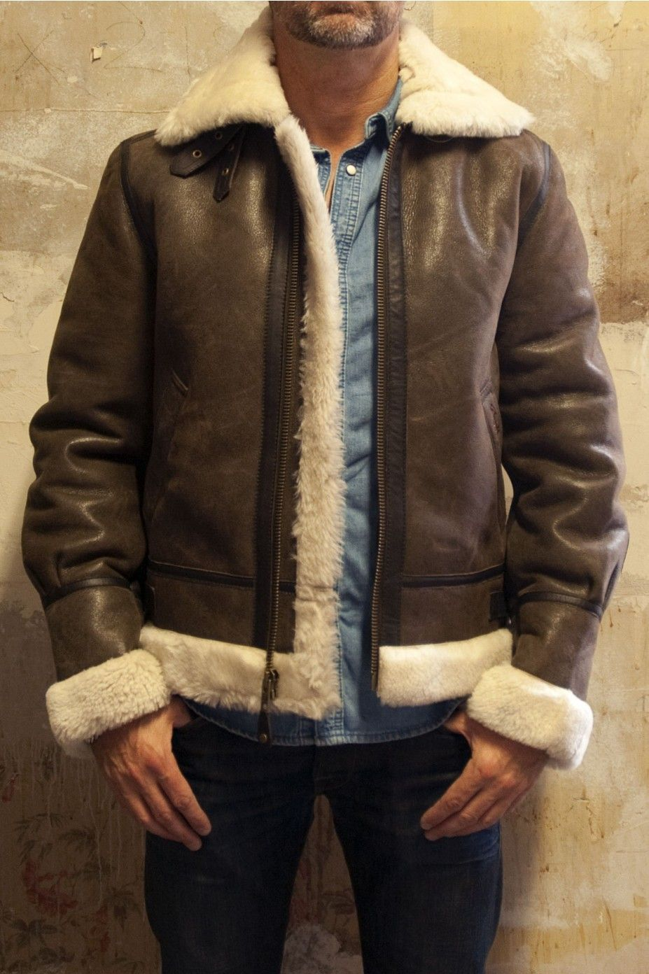 Schott Brown Pilot Jacket Mens Fashion Mens Coats A Bomber Jacket My Friend Used To Have One Looked Goo Leather Jacket Men Pilot Leather Jacket Mens Outfits [ 1392 x 927 Pixel ]