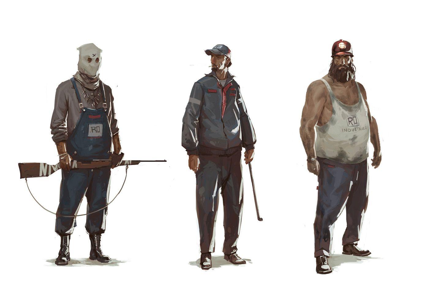 ArtStation - small town thugs, Oliver Odmark