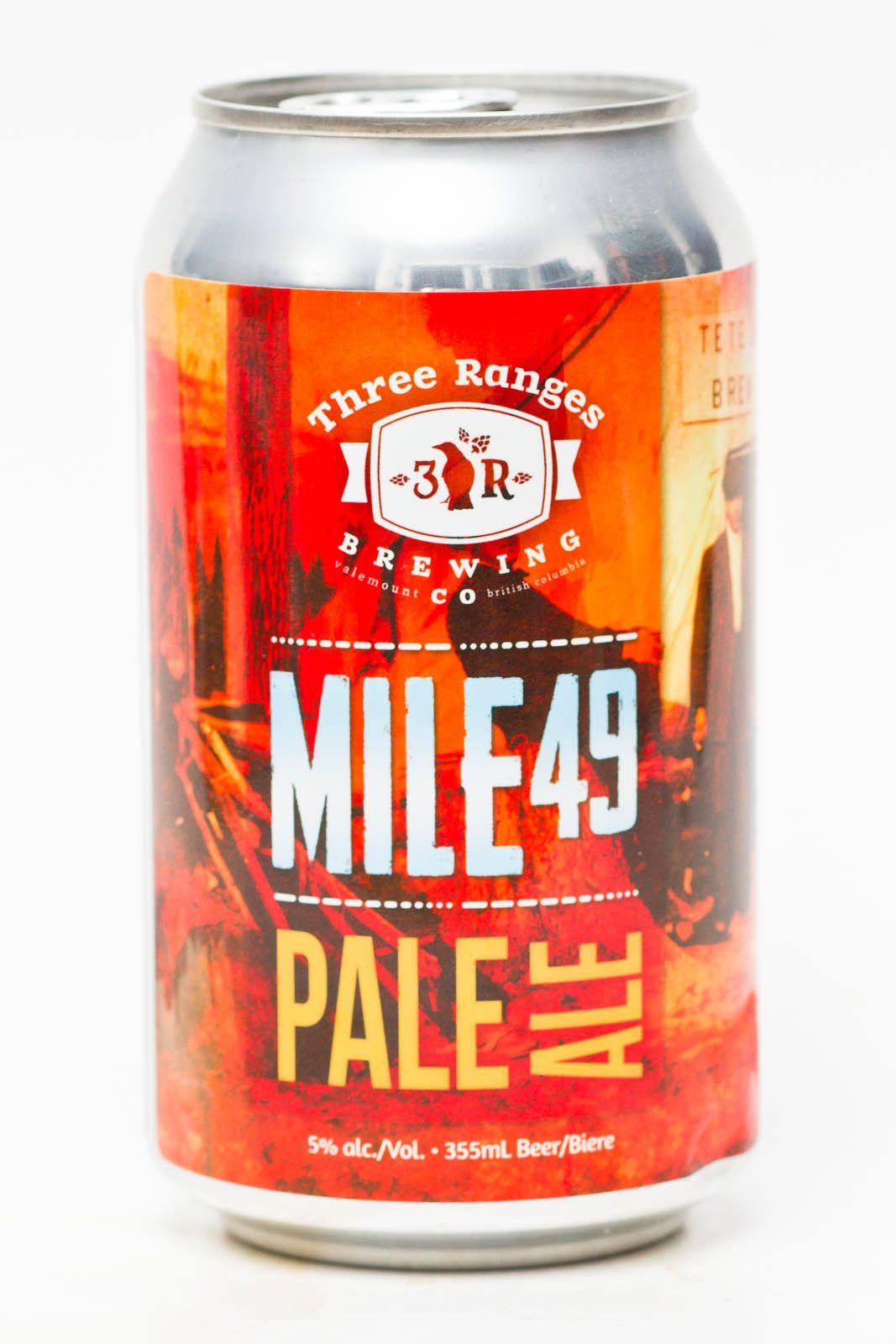 Three Ranges Brewing Co Mile 49 Pale Ale Craft Beer Packaging Pale Ale Beers Pale Ale