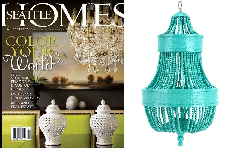 Turquoise Beaded Pendant Featured By Seattle Homes Magazine Courtesy of InStyle-Decor.com Beverly Hills Inspiring & supporting Hollywood interior design professionals and fans, sharing beautiful luxe home decor inspirations, trending 1st in Hollywood Repin, Share & Enjoy