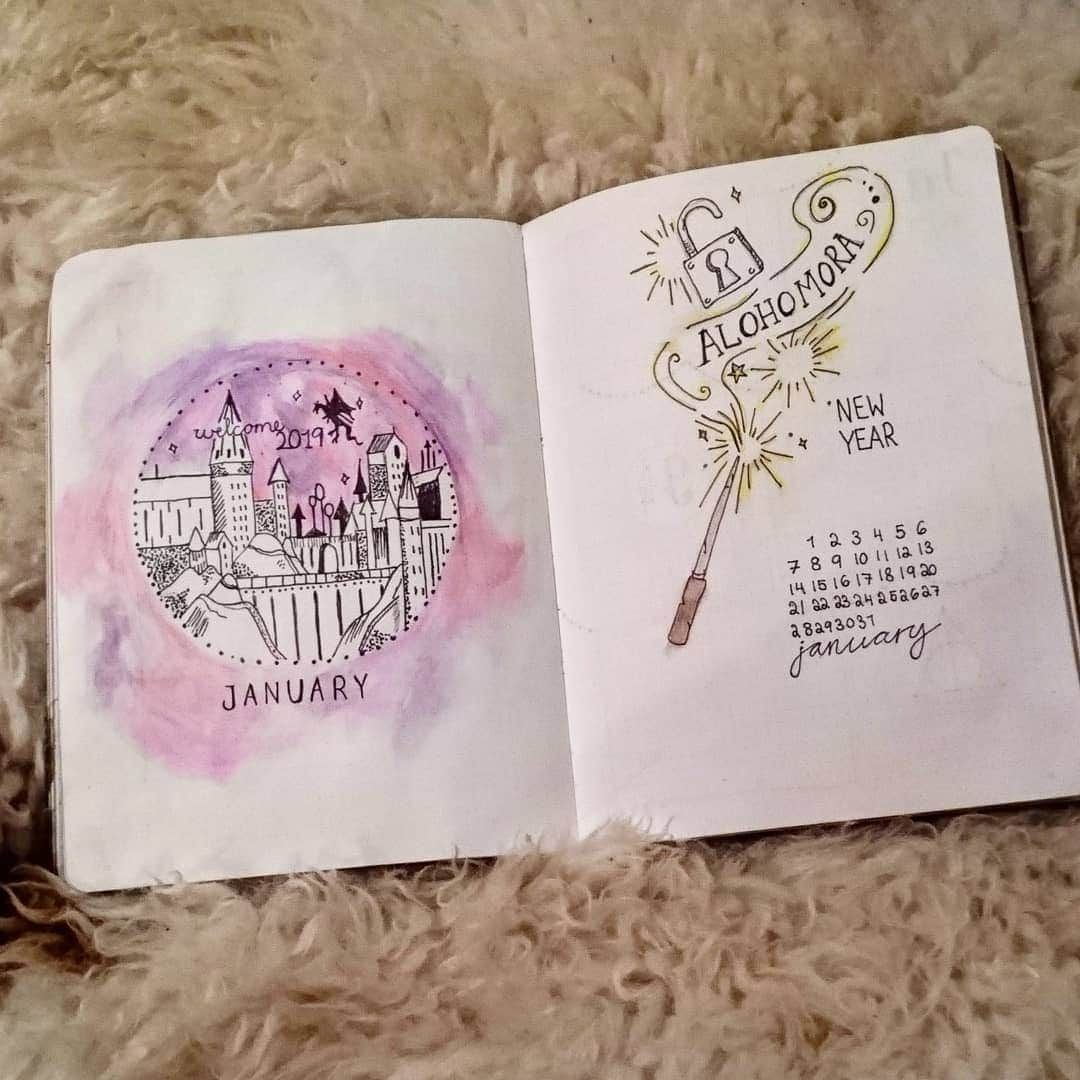 24 Harry Potter Bullet Journal Ideas - Head Back to Hogwarts