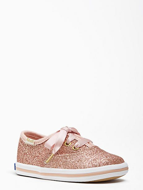 9782077ca8a8 Keds Kids X Kate Spade New York Champion Glitter Crib Sneakers, Rose Gold -  Size 1