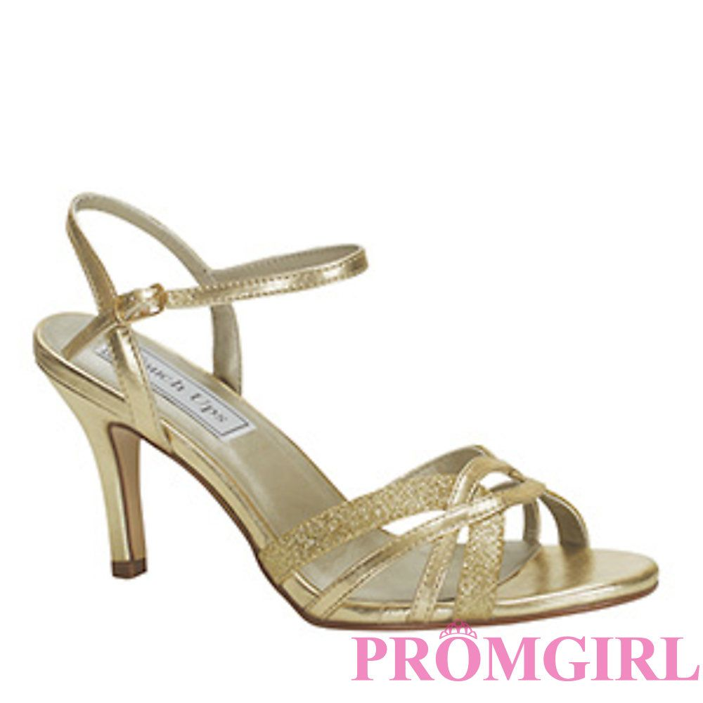 Gold Low Heel Dress Shoes | Tsaa Heel