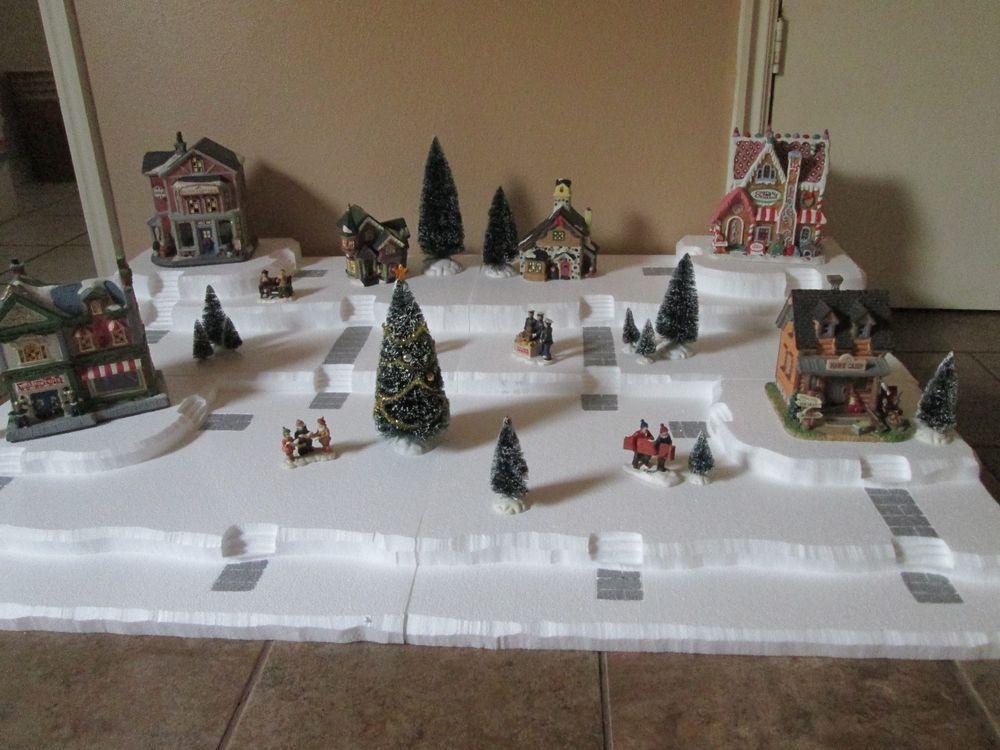 Christmas Village Display Platforms.Styrofoam Christmas Village Display Platforms Christmas