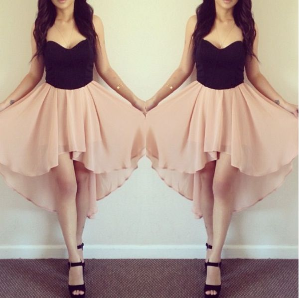 Black and pink high-low