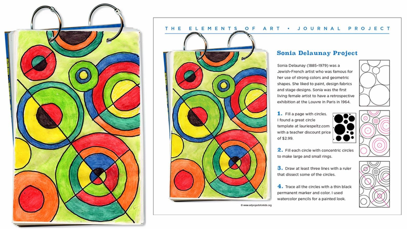 Delaunay Art Journal Page Art Projects For Kids