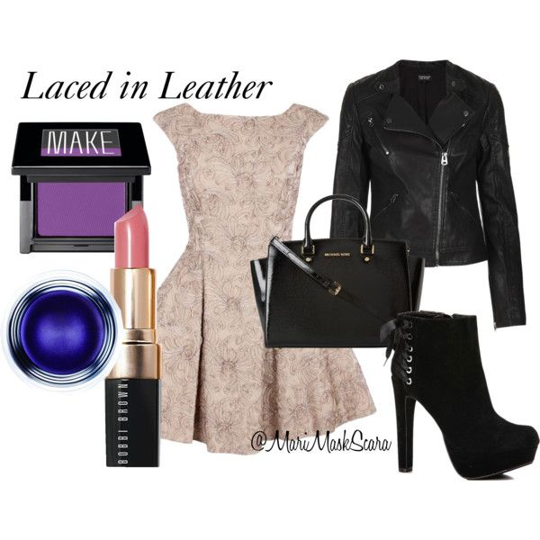 """""""Laced in Leather"""" by marimaskscara on Polyvore"""