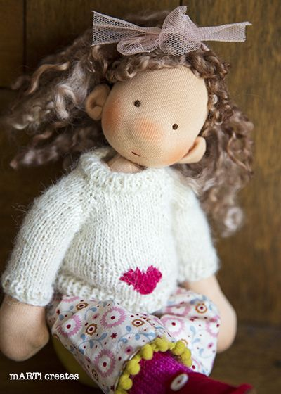 Daisy - 11'' Art doll by mARTi creates
