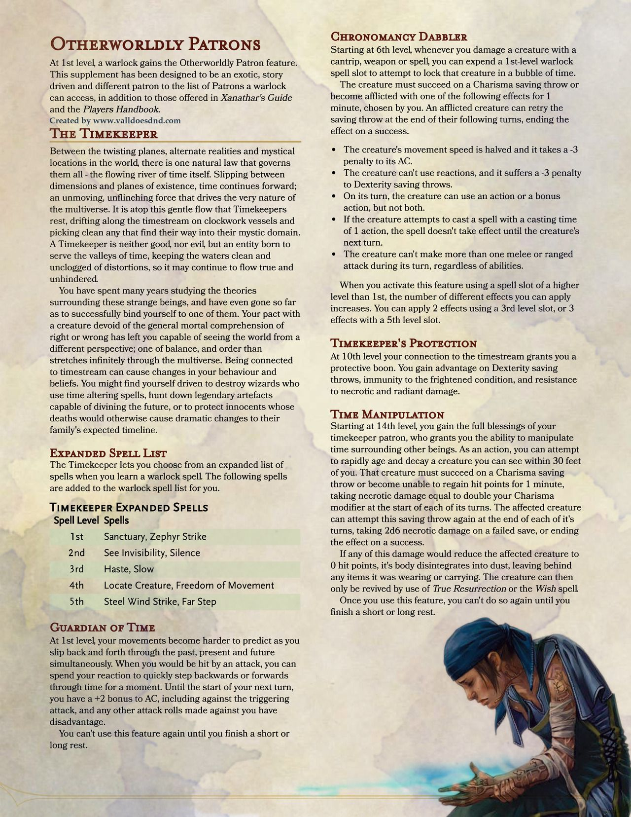 The Huntsman's Homebrews — valldoesdnd: For those who don't