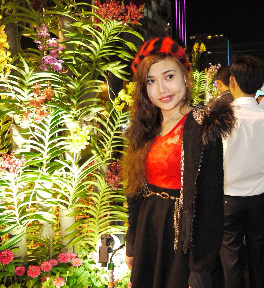 Vietnamese girl in the New Year's celebration. Vietnam