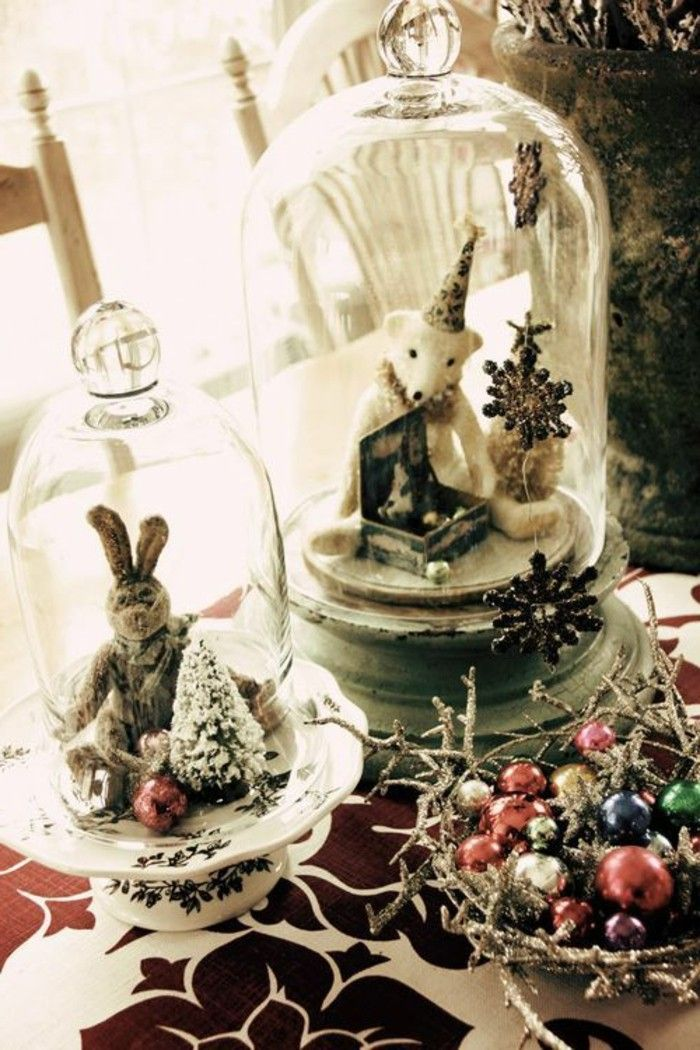 40 Christmas Decorate For The Holidays With Bell Jars Christmas Adorable Bell Jar Decorating Ideas