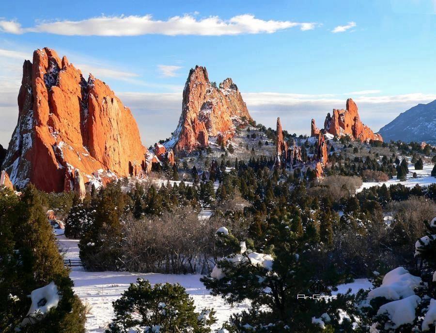 Garden Of The Gods Colorado Springs Co Winter Is So