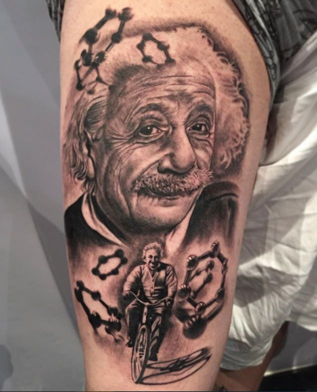 15 Incredible Albert Einstein Tattoos Tatouage Artistes