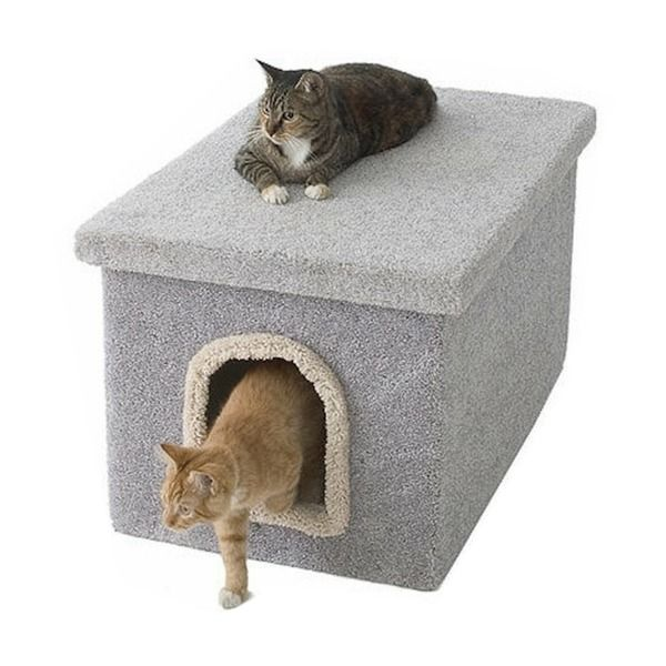 New Cat Condos Large Hidden Litter Box Enclosure Litter Box