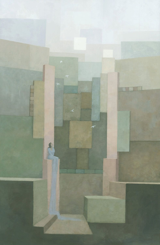 The Salt Palace, Original Painting. $1 300,00, via Etsy.