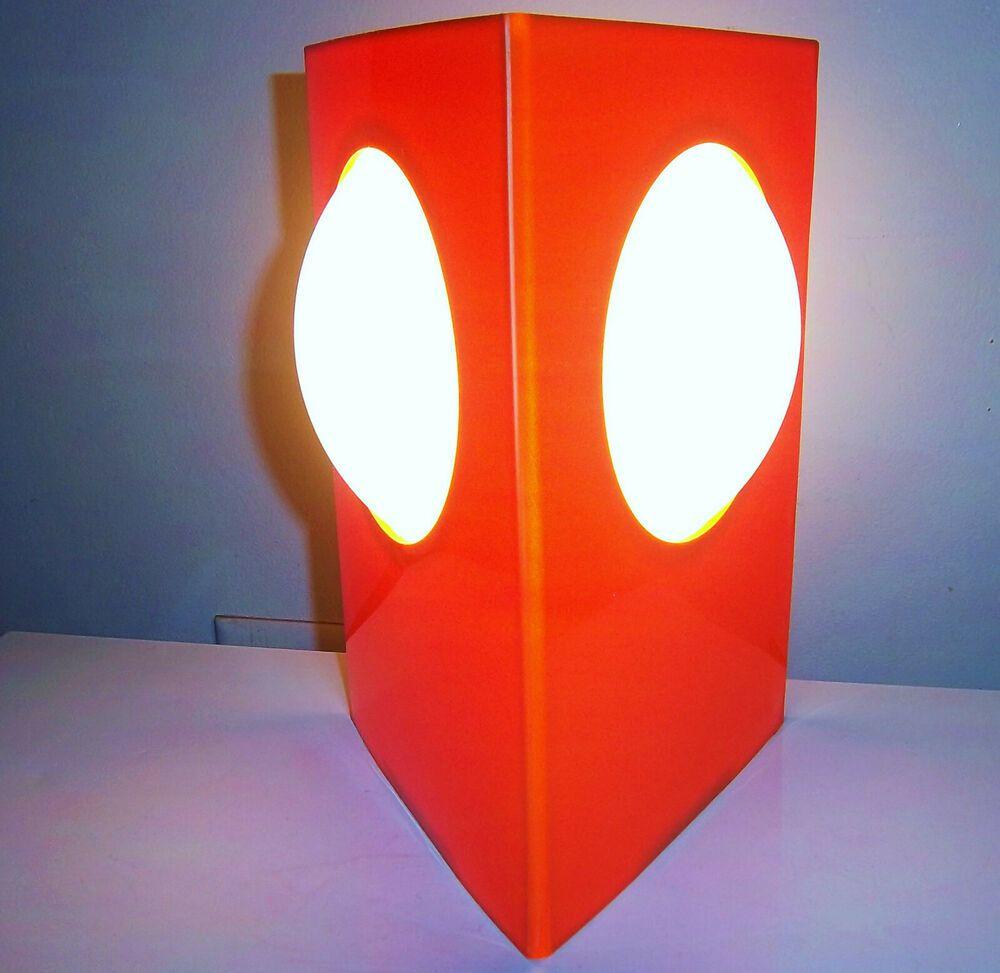 Orange Space Age 70s Plastic Table Lamp Vtg Retro Psychedelic Panton Eames Mcm Lamp Lamp Inspiration Table Lamp