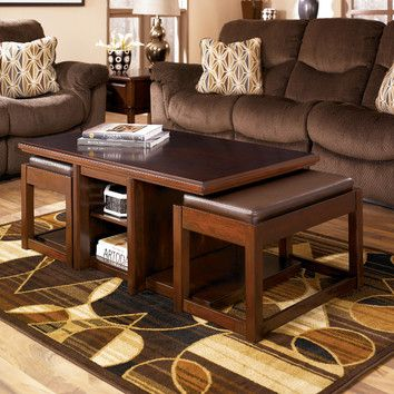 Signature Design By Ashley Lamoine Coffee Table With 2 Nesting