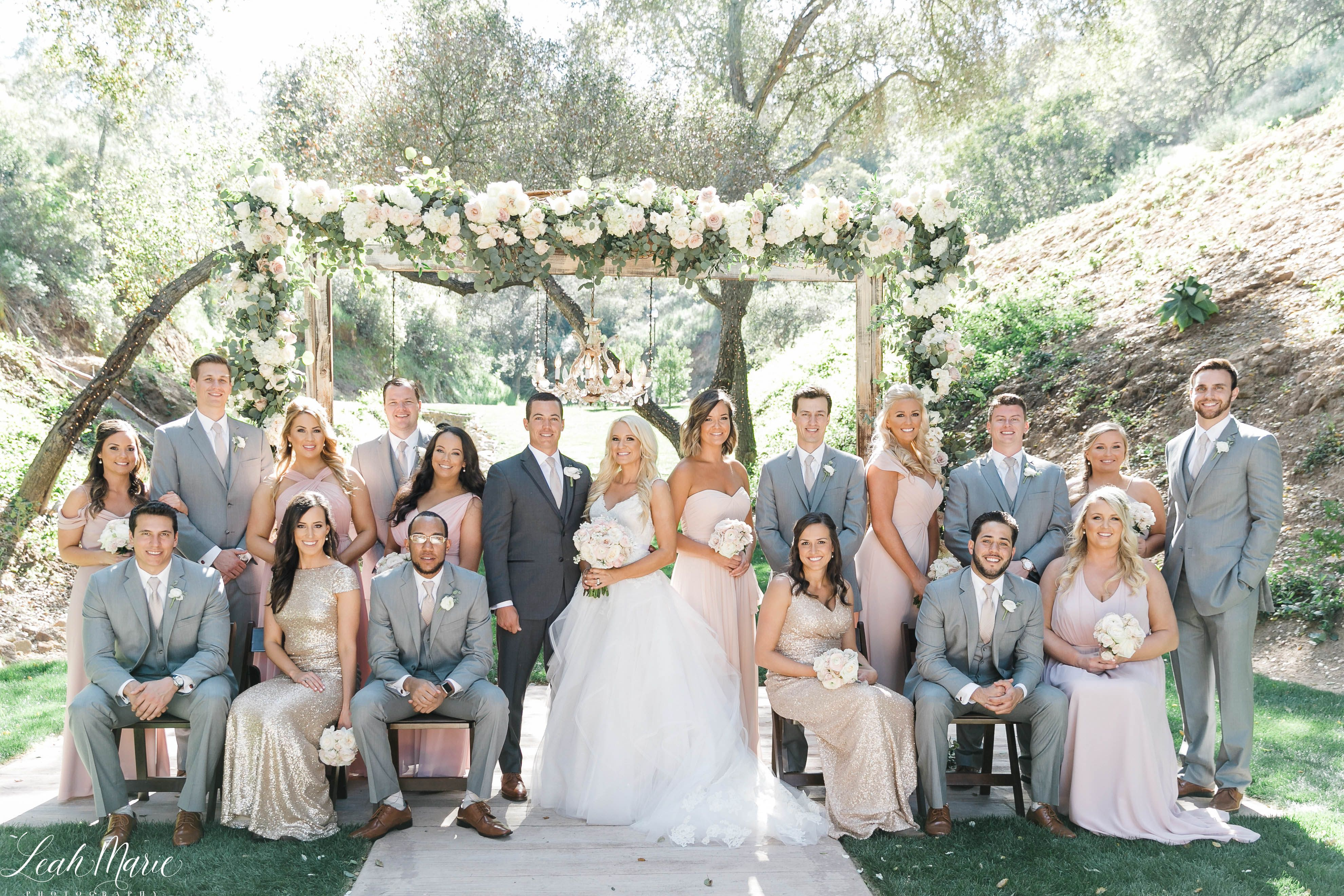 Wedding Part Ceremony Site With Floral Arch Los Willows Wedding