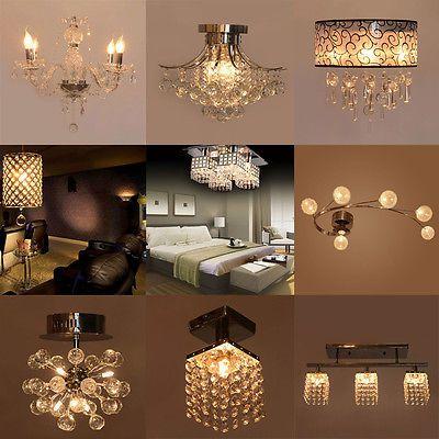 Vintage Modern Fixture Ceiling Light Lighting Crystal Pendant Chandelier Lamp Ceiling Lights Chandelier Ceiling