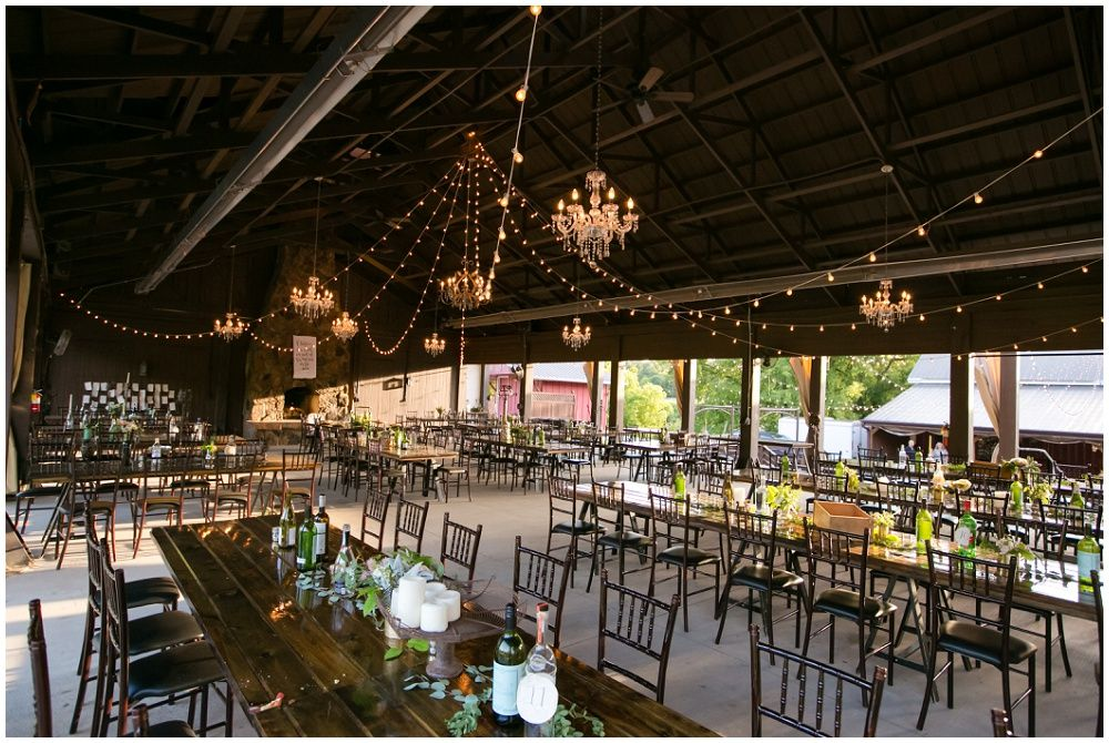 Dinner Pavilion Reception At Hope Glen Farm