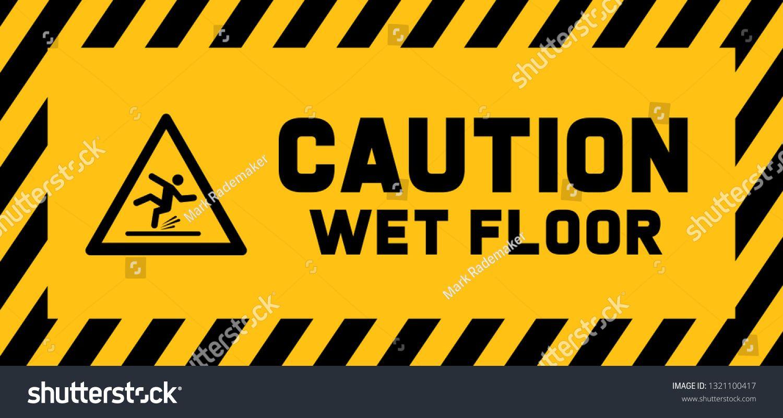 Caution wet floor sign slippery floor sign signs stop